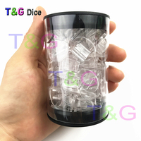 New Fashion Creative Top Quality Clear Plastic Portable Storage Tube For DND RPG MTG Board Game