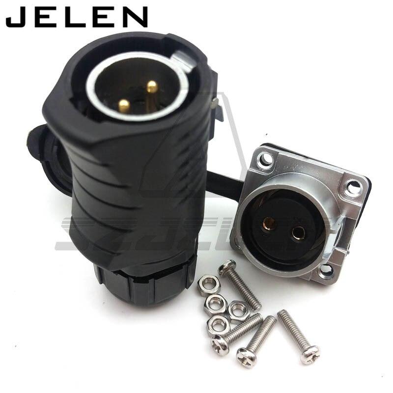 XHE20... IP67 2pin impermeable conectores LED conector de cable de alimentación macho y hembra coche conector de energía eléctrica enchufe