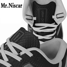 Mr.Niscar 1 Sets/40 Pcs No Tie Shoelaces Flat Anchor Plastic Lazy Shoe Laces Anchors Fit All Shoelace Size 17mmX10mmX2mm n 1 set 4pcs lazy laces anchors fit all shoelace convenient tieless lace no need tie shoelaces buckle flat round anchor plastic