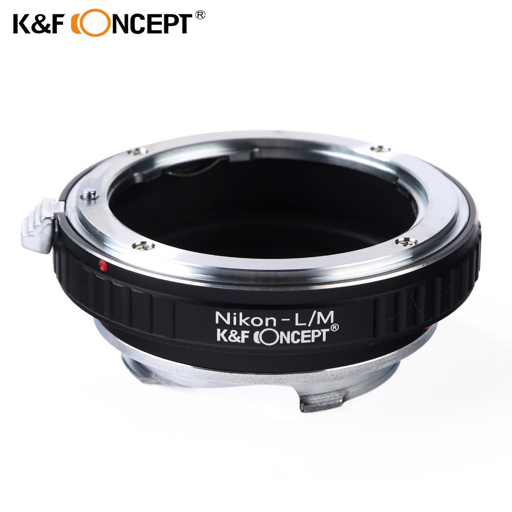 Prix pour K & f concept lens mount adapter pour nikon monture à leica m lentille caméra corps bague d'adaptation d'objectif pour nikon-l/m adaptateur