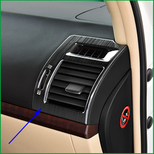 For Toyota Land Cruiser PRADO FJ150 LHD 2010-2017 dashboard Both Side Air Condition Vent Outlet Cover Sticker Trim car-styling