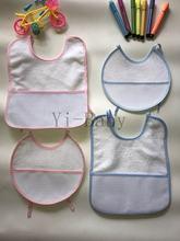 Babadores para bebês, babadores ponto cruz à prova d' água bebê, babadores para bebês, rosa, azul, 4 pçs/set, yb170013