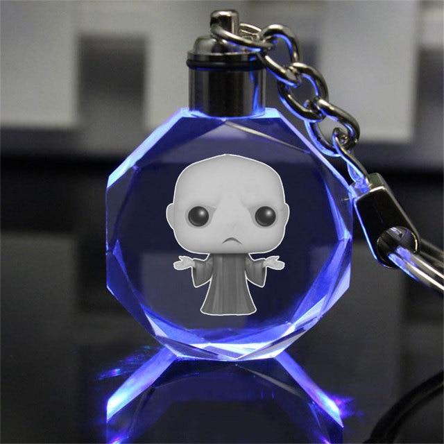 Аниме брелок светодиодный кристалл Гарри Поттер Хогвартс  3
