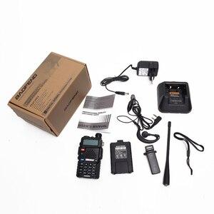Image 5 - 2 pcs baofeng walkie talkie uv 5r dualband rádio em dois sentidos vhf/uhf 136 174 mhz & 400 520 mhz fm transceptor portátil com fone de ouvido