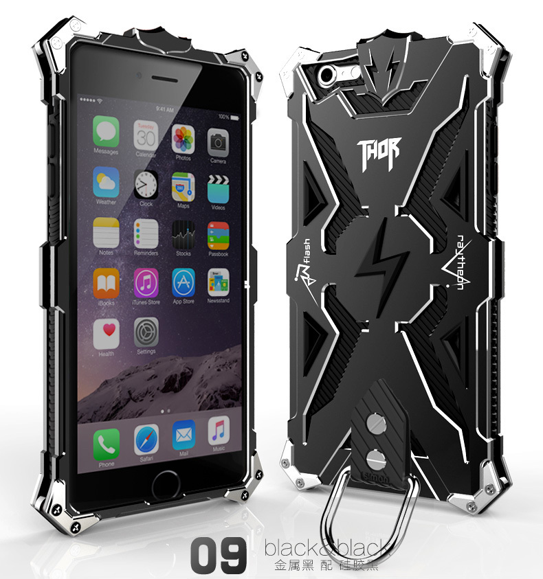 New Original Design Cool Metal Aluminum Armor THOR IRONMAN protect phone cover shell case for iphone 6 plus 6plus 5.5inch