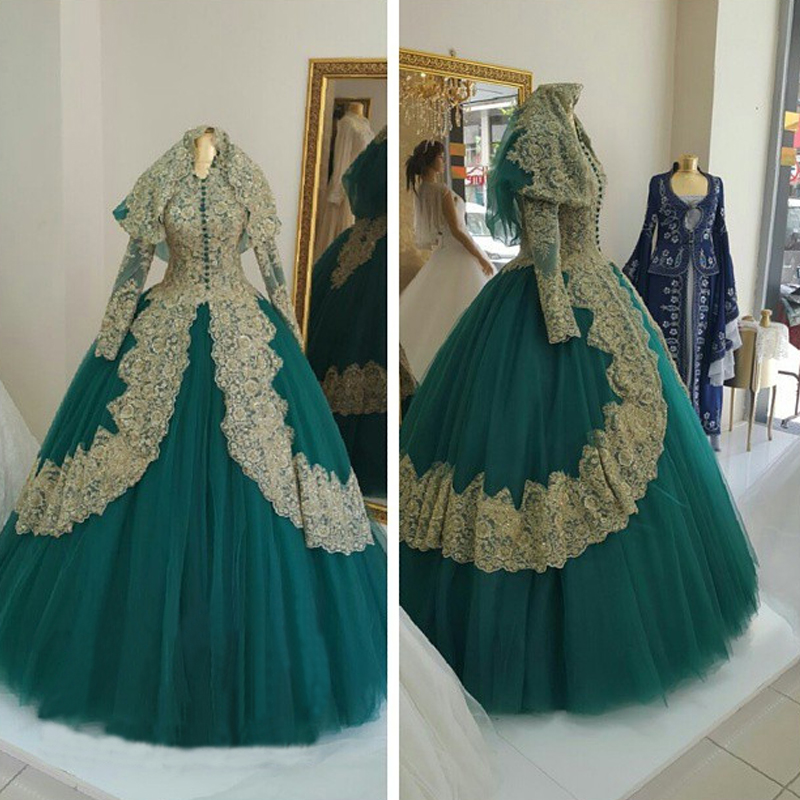Buy saudi arabia long sleeves muslim for Wedding dress in dubai