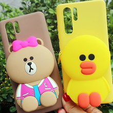 FAYDAI For Huawei Mate 20 Pro Lite Case 3D Cute Cartoon Wallet Phone 20X Cover Soft TPU Silicone Back