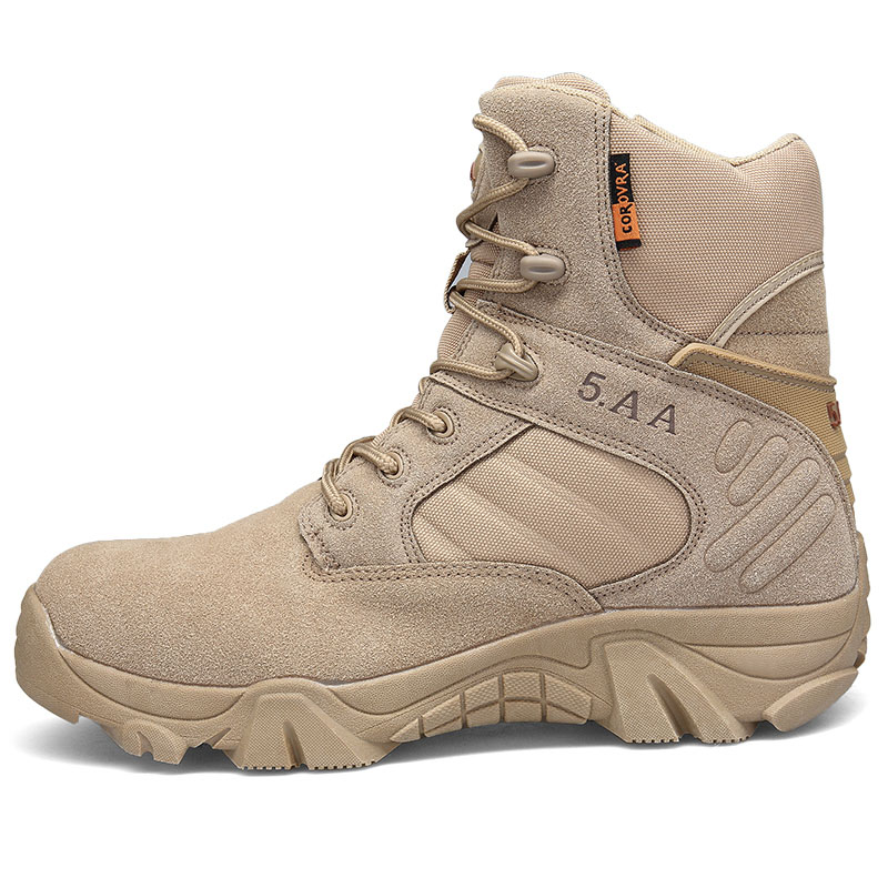 Waterproof Hiking Climbing Shoes Men Professional DELTA Tactical Boots Military Desert Combat Boots Outdoor Mountain Sneakers