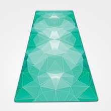 Natural Rubber Environmental Protection Suede Fabric Comfortable Non-Slip Exercise Mat Fitness Yoga Mat