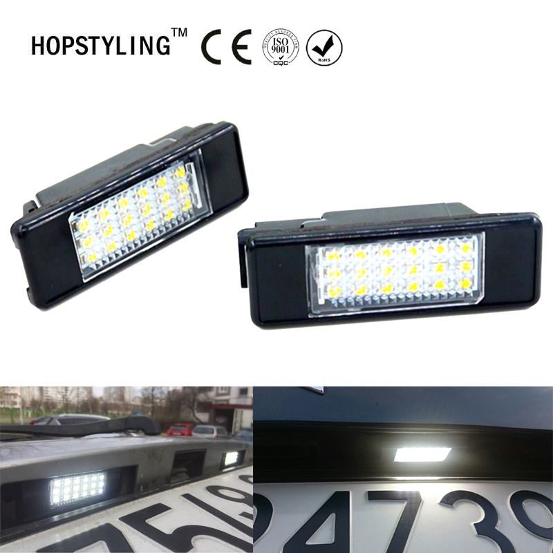 No Error LED license plate light For Citroen Berlingo Estate Van C4 Picasso C2 3D C3 5D car styling rear number plate lamp led smd license plate light for citroen c2 3d c3 5d c4 3d c4 5d c5 4d c5 5d c6 4d c8 4d ds3 3d