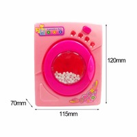 Plastic Dollhouse Miniature Furniture Children Simulation Toys Mini Electric Washing Machine Pretend Play Toys For Kids Girls 5