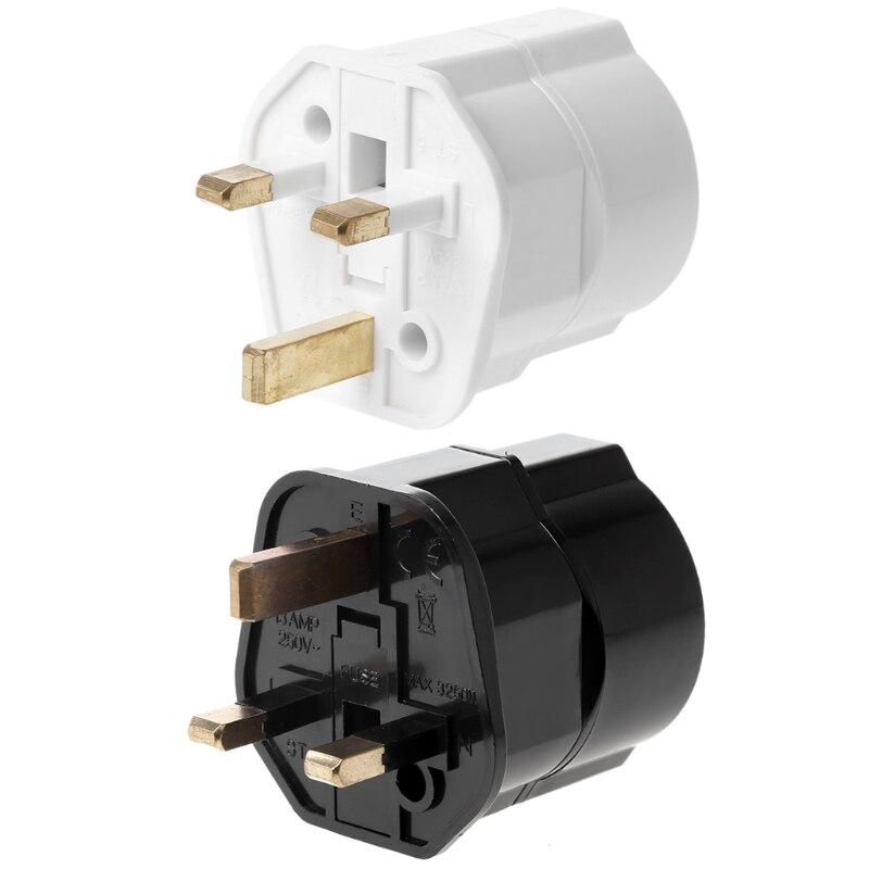 OOTDTY Multifunctional EU to UK Plugs Adapter EU to UK Plugs Power Converter Plugs 2 Pin Socket EU to UK Travel Adapter