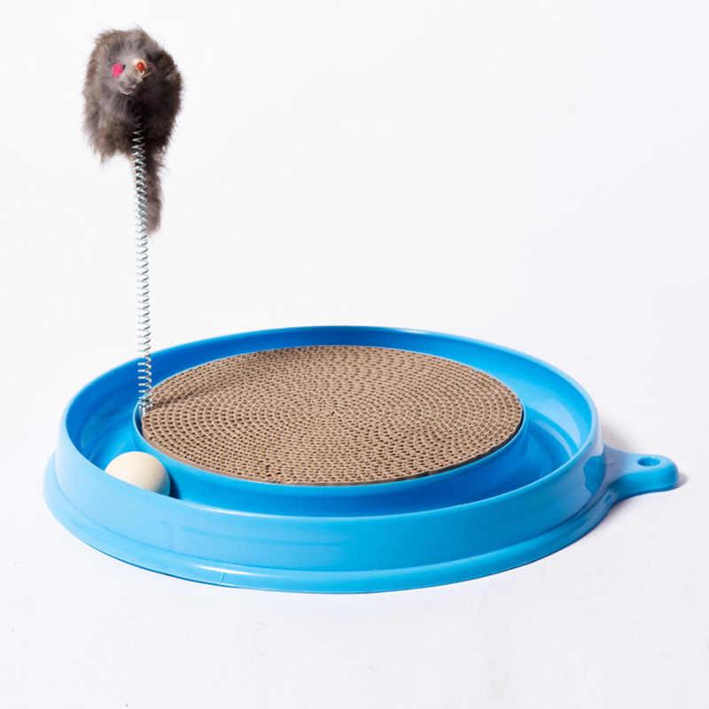 חתול חתלתול טורבו גרדן מגרד Pad לוח צעצוע עם כדור עכבר אימון לשחק כיף אספקת בחור-מכירה