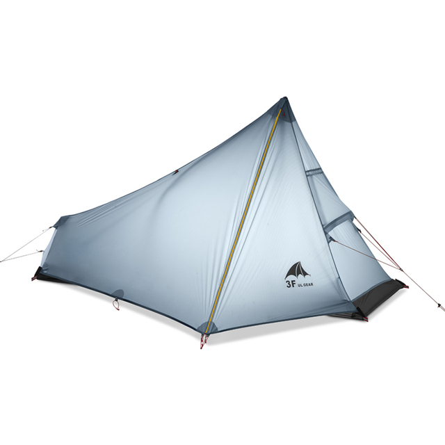 3F UL GEAR Single Person Tent Oudoor Ultralight Camping Tent 3 Season Professional 15D Nylon Silicon Coating Rodless Tent 740g