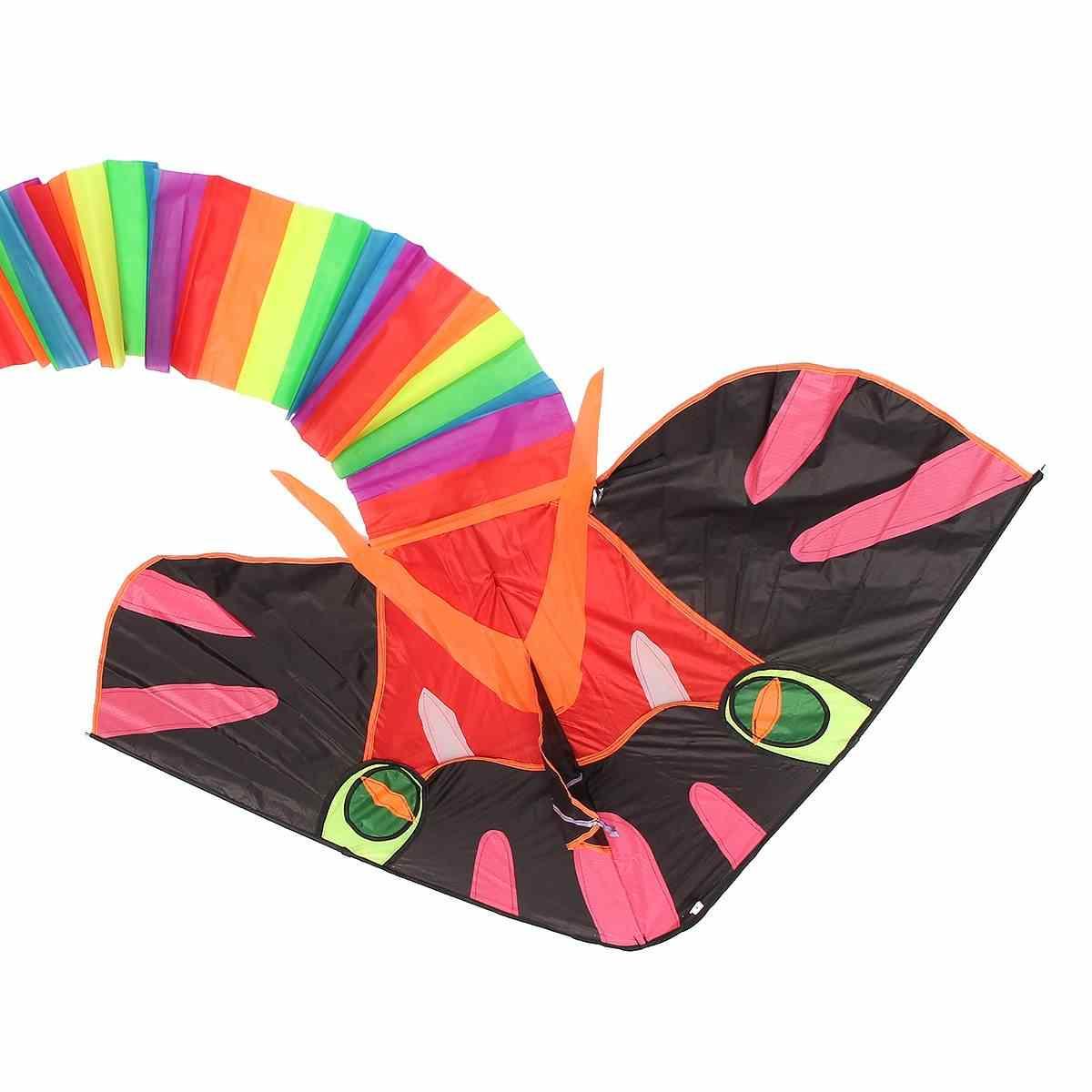 8 M grande Cyan serpiente cometa fácil de volar juguetes para niños al aire libre divertido deportes regalo buen juego de juguete volador para los niños adultos