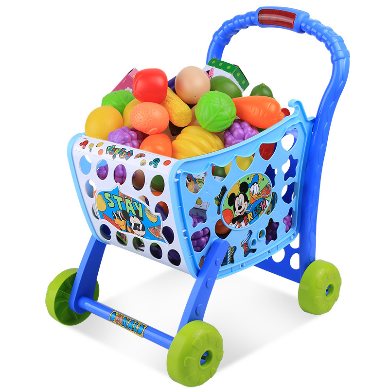 2018 New Disney Mickey Series Supermarket Child Car Play Toys Simulation Child play house toys Trolley Set birthday gifts 2018 new disney mickey series supermarket child car play toys simulation child play house toys trolley set birthday gifts