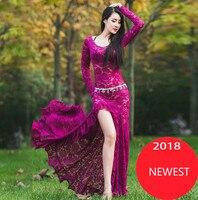 Women Belly Dance Costume Oriental Dancing Clothing For Women Belly Dance Wear Stage Performance Dress M