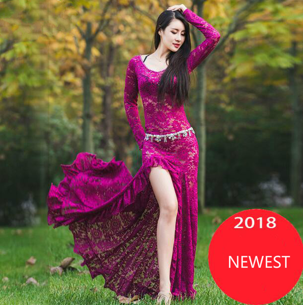 Women Belly Dance Costume Oriental Dancing Clothing for Women belly dance wear stage performance dress M, L DW056