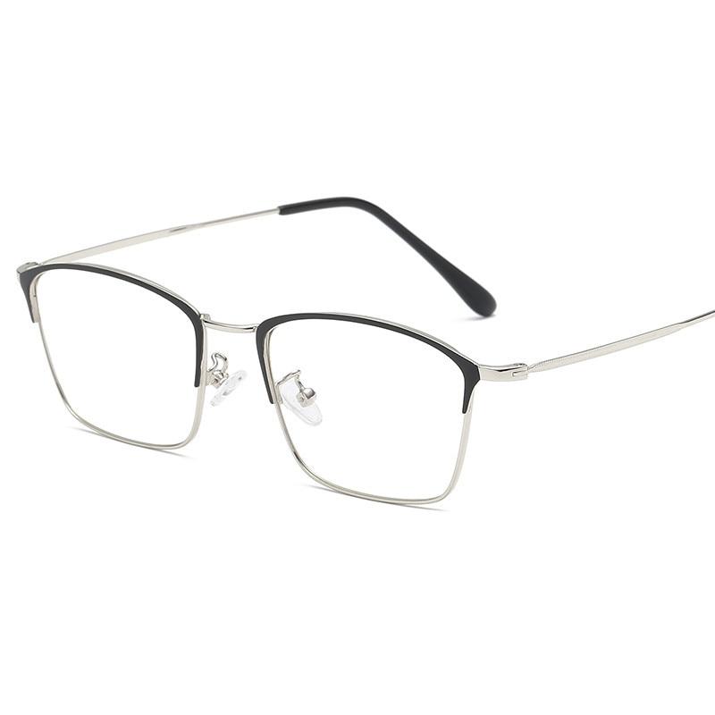 Titanium Alloy Glasses Frame Men Ultralight Women Vintage Prescription Eyeglasses Anti blue Ray Optical Frame Eyewear 9007 in Men 39 s Eyewear Frames from Apparel Accessories
