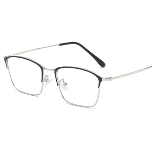 Image 3 - Titanium Alloy Glasses Frame Men Ultralight Women Vintage Prescription Eyeglasses Anti blue Ray Optical Frame  Eyewear 9007