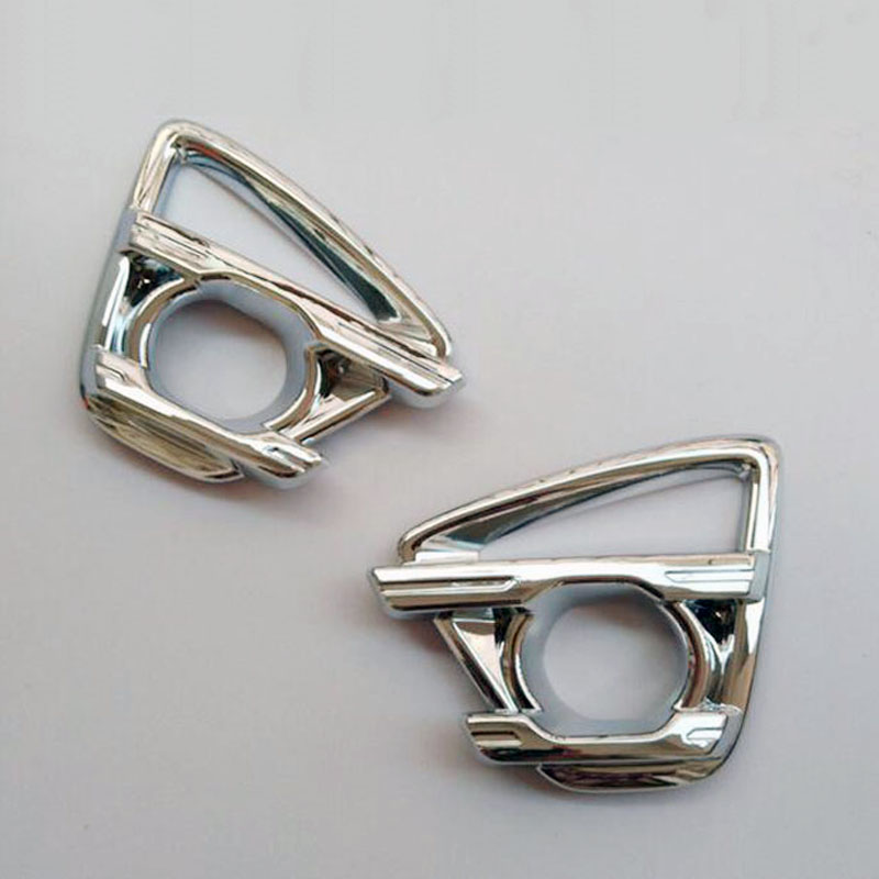 Chrome Front Fog Light Lamp Covers <font><b>Accessories</b></font> for <font><b>Mazda</b></font> CX-5 <font><b>CX5</b></font> <font><b>2015</b></font> 2016 Car Styling Stickers Parts 2 Pcs image