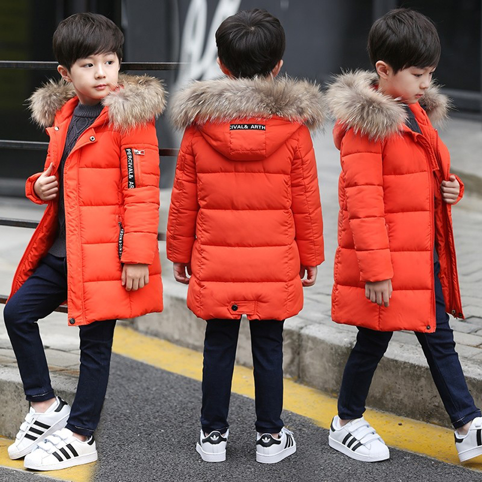 2018 Children Down Winter Kids Outerwear Coat Boys Casual Warm Hooded Jacket for Boys Solid Boys Warm Coats 4-14 Years Teenager цена 2017