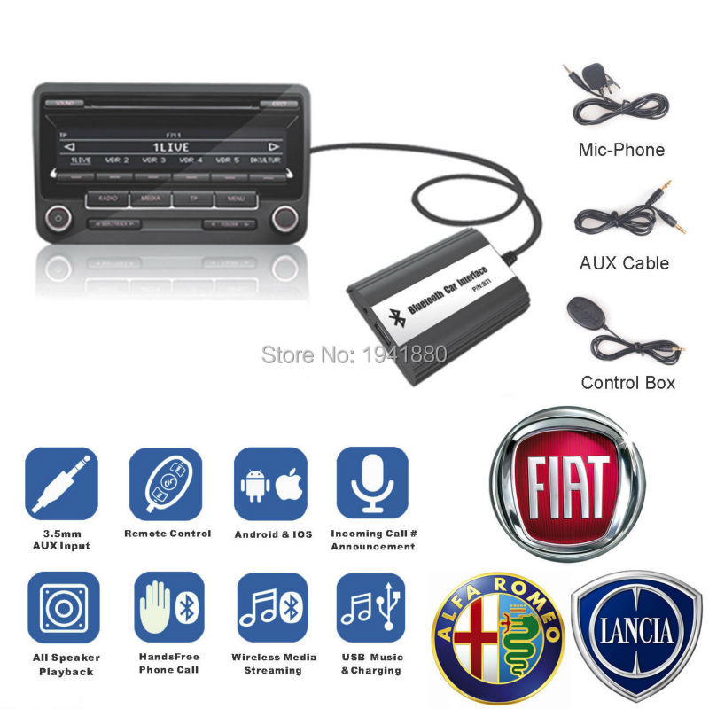 DOXINGYE USB AUX Bluetooth Adapter Car Digital Music Cd Changer Adapter Car MP3 Player For Fiat