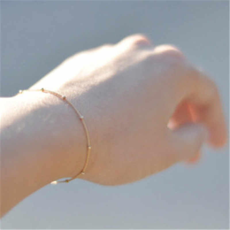 LUSION Trendy Simple Chinas Bracelets For Women Beads Adjustable Gold Silver Vintage Jewelry Gifts Christmas 2019 Summer New