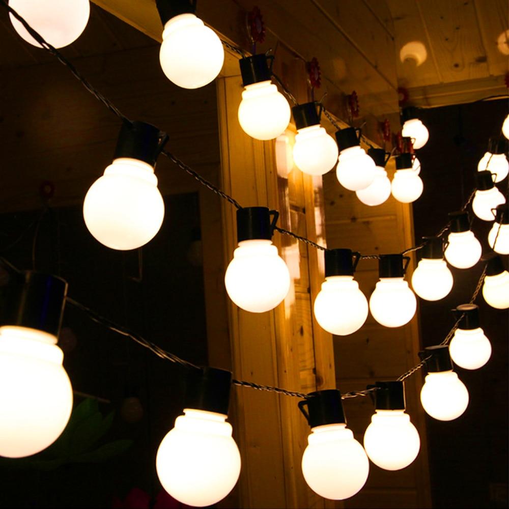 String Bulb Lights 6M 20LEDs Luces LED Decoracion 110V 220V Waterproof Festoon Fairy Lights Outdoor Indoor Garland Lighitng