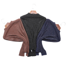 Hot Selling O-neck Flash Silk Pullover Women Glitter Sweater Spring Autumn Long Sleeve Tops Female Free Drop Shipping D335
