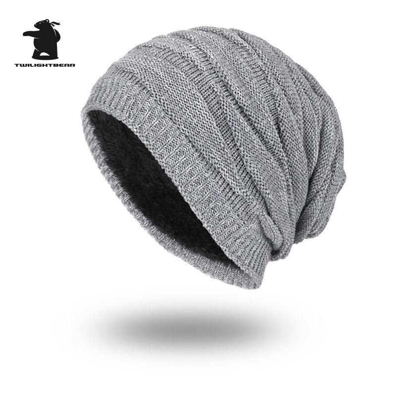 2017 New Men's Winter Hat Fashion Fleece Skiing Beanies Caps Warm Knitted Beanie Bonnet hats men Gorros Invierno Cappelli CY6E55 unisex letter dragon winter hats skullies beanies men woman beanie knitting hat knitted cap new design invierno bonnets gorros