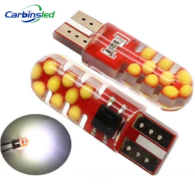 2019 Newest T10 W5W LED Car Interior Light COB Crystal Silicone Lamp 12V Clearance Light Side Wedge Parking Bulb Canbus Car LED