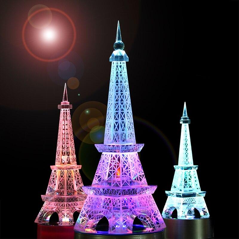 Décor à la maison Paris cristal artisanat décoration décoration décoration de La Maison D'ameublement Tour Eiffel modèle de Européenne cadeau de mariage idées