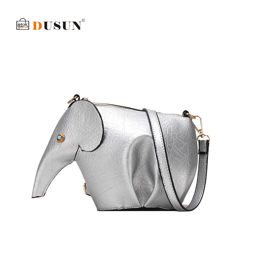 DUSUN Cartoon Elephant Handbag Fashion Women s Shoulder Messenger Bag High  Quality PU Leather Mini Cute Casual Crossbody Purse-in Shoulder Bags from  Luggage ... 36621cc46fd91