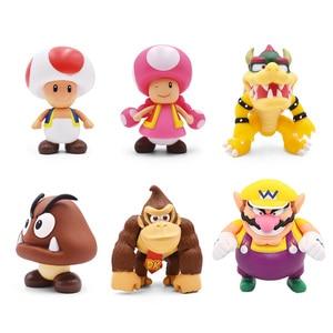 Image 3 - 8 15cm Super Mario Figure giocattoli Mario Bros Bowser Luigi Koopa Yoshi Mario Maker Odyssey PVC Action Figure modello bambole giocattoli regalo