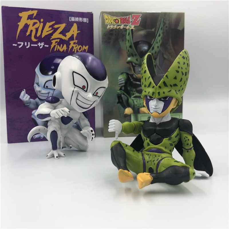Dragon ball z q célula frieza freeza sentado desprezar mau gosto final forma goku vegeta dbz pvc coleção figura de ação 11cm