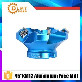 1 шт. 45 градусов угол KM12 160 200 мм лицевая алюминиевая плоская головка Концевая фреза
