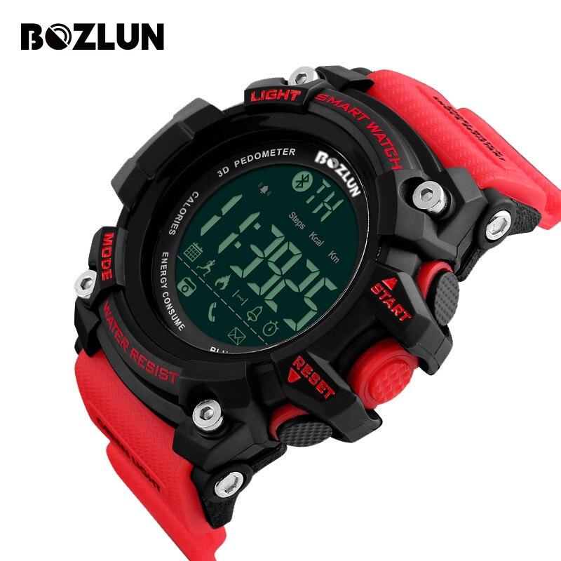 BOZLUN Bluetooth Sport Smart reloj al aire libre SmartWatch llamada mensaje recordatorio reloj hombres Ultra-Largo relojes reloj inteligente