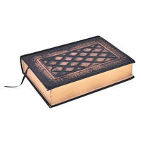 1PC Vintage Retro Notebooks Embossed Plaid PU Leather Framed Note Book Agenda Diary Journal Office School