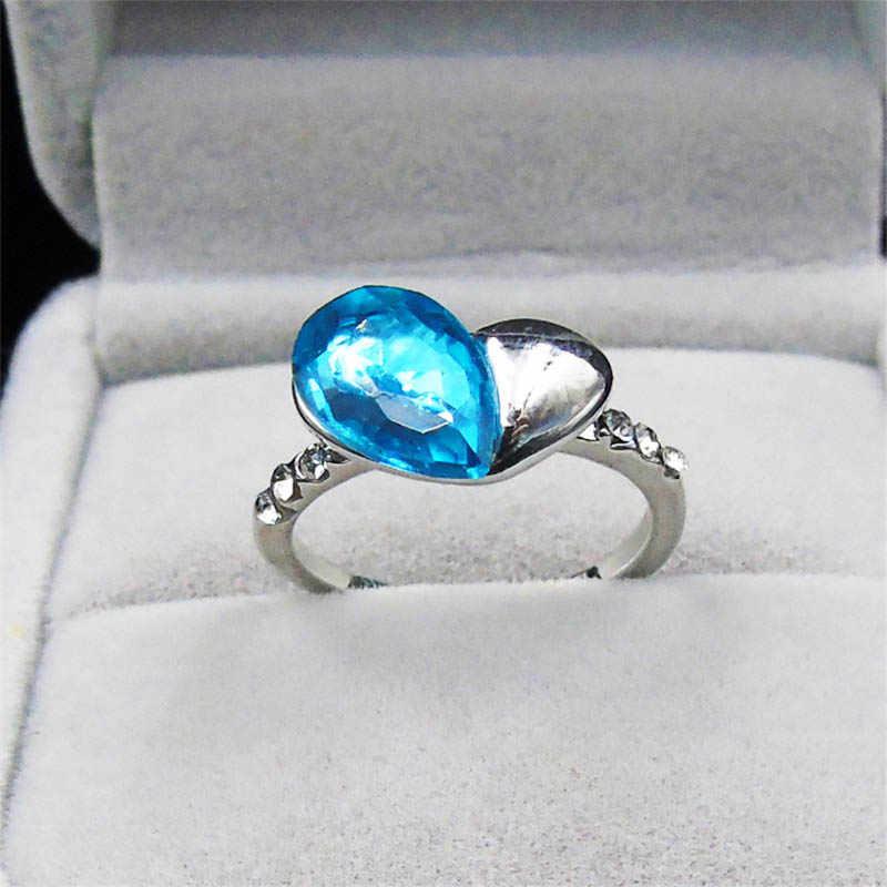 R031 anillo de corazón para mujer rosa azul naranja anillos de amor boda compromiso mujer joyería de dedo regalos románticos