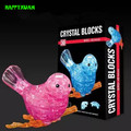HAPPYXUAN DIY 3D Jigsaw Crystal Puzzle Bird Plastic Home Decoration Birthday Gift for Children