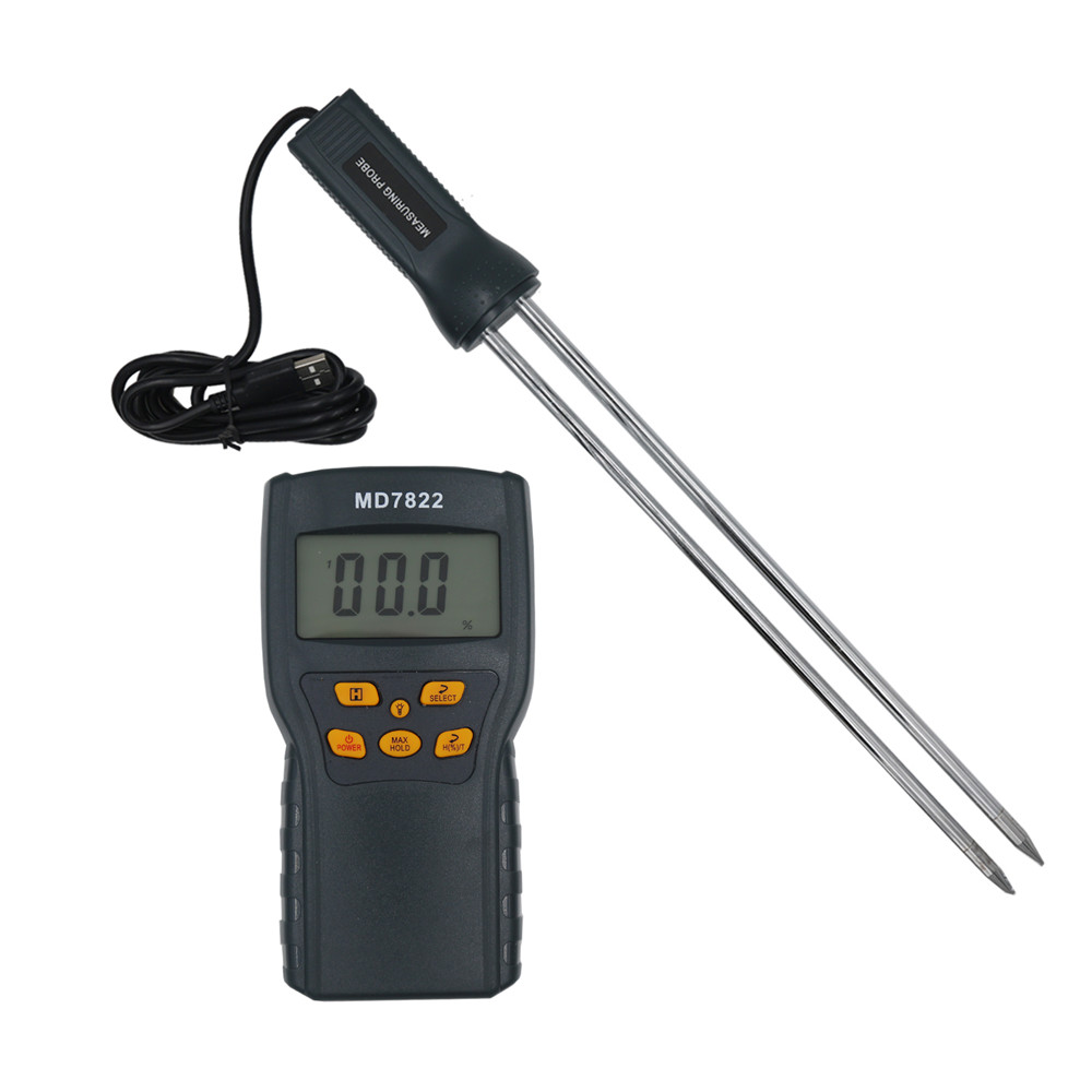 by dhl fedex 10pcs/lot MD7822 Grains Moisture Meter Humidity Tester Wet Hygrometer for Rice Corn Wheat Coffee Bean natural enemy fauna in rice wheat system of india