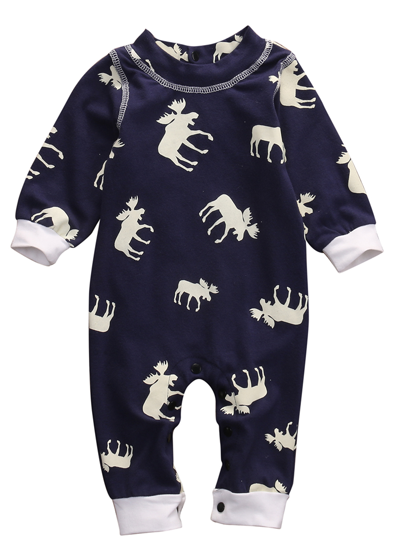 2016 Fashion Baby Romper Infant Newborn Bebes Boy Girl Clothes Autumn Winter Long Sleeve Christmas Moose Jumpsuit Rompers baby rompers cotton long sleeve baby clothing overalls for newborn baby clothes boy girl romper ropa bebes jumpsuit p10 m