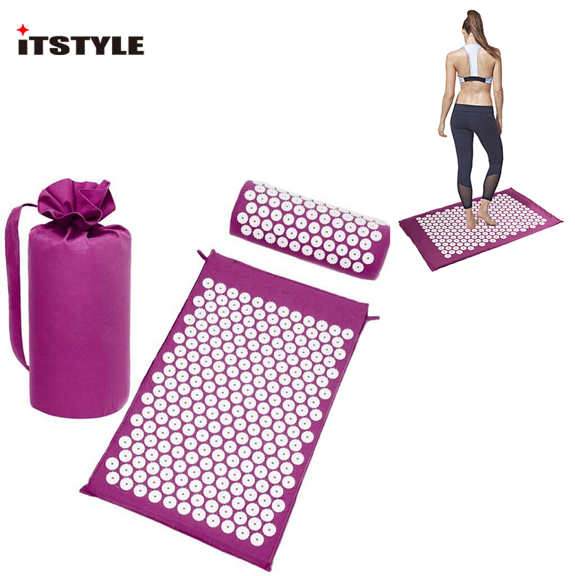 ITSTYLE Yoga Acupressure Massage Mats Back Body Relieve Stress Tension ABS spike  Relaxation Pain Pad Mat