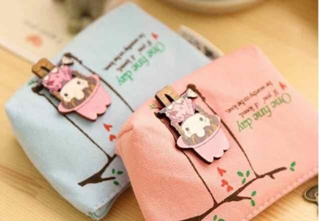 1 шт./лот вечерние сувениры для детей качели девушки сумка из текстиля монета небольшой кошелек чехол на день рождения