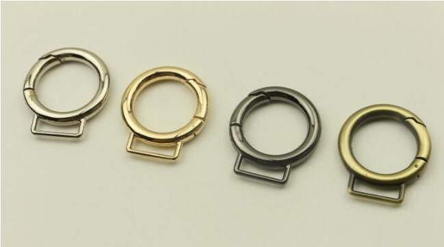 (10 pieces/lot) Bags Handbags Shoulder straps Link 22mm Open spring coil DIY Bag hook Hardware accessories