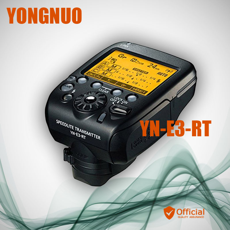 Yongnuo YN-E3-RT TTL Radio Flash Trigger Speedlite Transmitter Controller as ST-E3-RT for Canon 600EX-RT/YONGNUO YN600EX-RT II 3pcs yongnuo yn600ex rt auto ttl hss flash speedlite yn e3 rt controller for canon 5d3 5d2 7d mark ii 6d 70d 60d