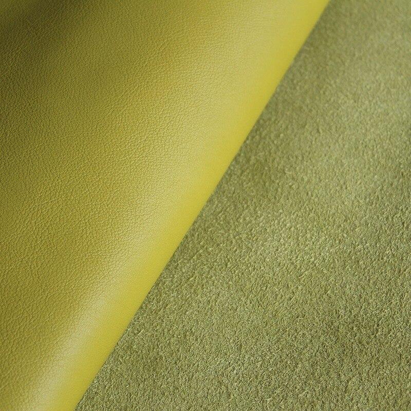 Лимонно-желтый натуральной кожи из воловьей кожи ручной работы DIY кожа 1.6 ~ 1.8 мм толщина кожи