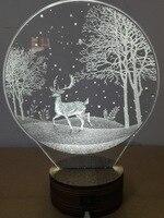 Neueste Kreative nachtlicht weihnachtsdekoration wapiti muster stereo visuellen licht visual lighting night lightcreative night light -