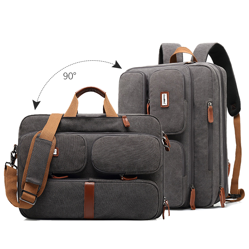 17.3 Inch Convertible Briefcases Notebook Bags Men Laptop Man Bag Carry On Business Multifunctional Handbag Travel Bag Xa229zc